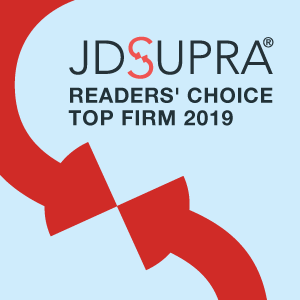 JD Supra Readers Choice Top Firm 2019