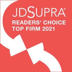 JD Supra Readers Choice Top Firm 2021